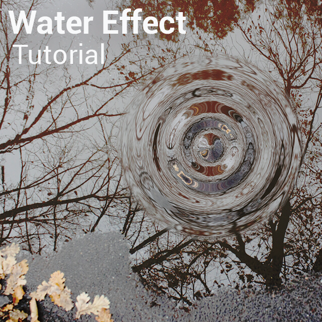 Water effect in photo editing