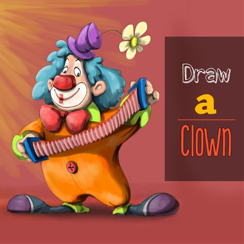 clown drawing