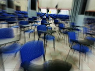exam chair blur photography examhall