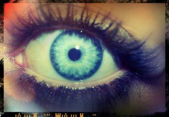 eye filter blue eyelashes colorful