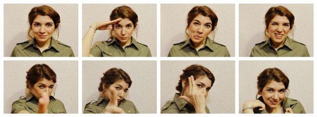 crazy militar retro sepia collage