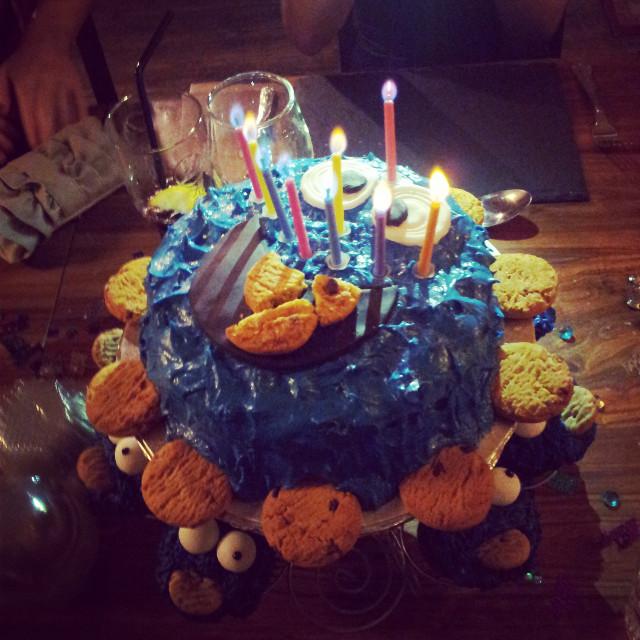 My birthday cake #cookiemonster