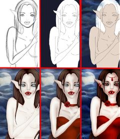 drawing draw drawstepbystep vampire