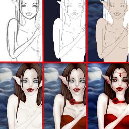 drawing draw drawstepbystep vampire