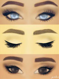 eyes makeup art fashion girl