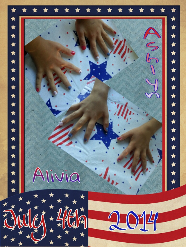 4th of July nails ☆