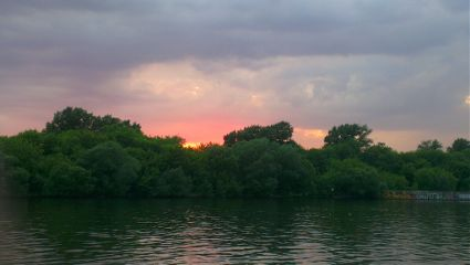 river sunset moscow summer nature