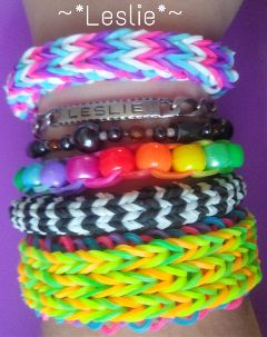 bracelet loom summer photography lesliecreation colorful