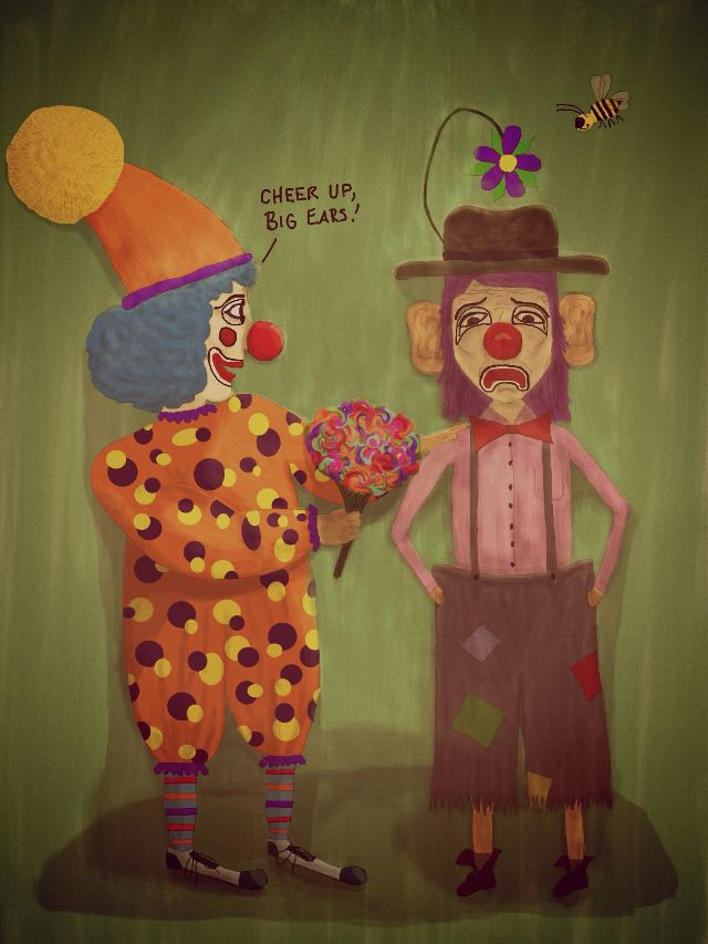 clown drawing contest winners