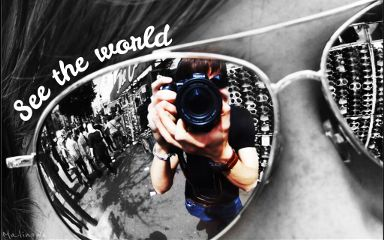 black & white photography world glasses