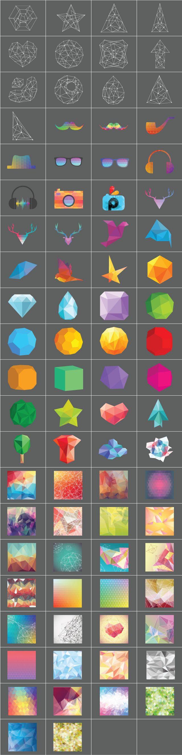 geometric shapes clipart