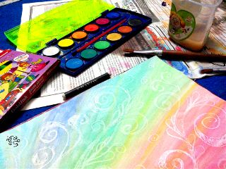 colorful watercolor art photography paints