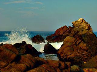 photography beach mexico rock