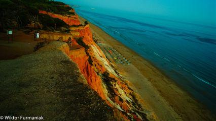 cliff nature beach water