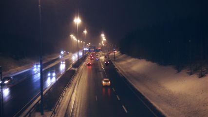 winter finland highway travel