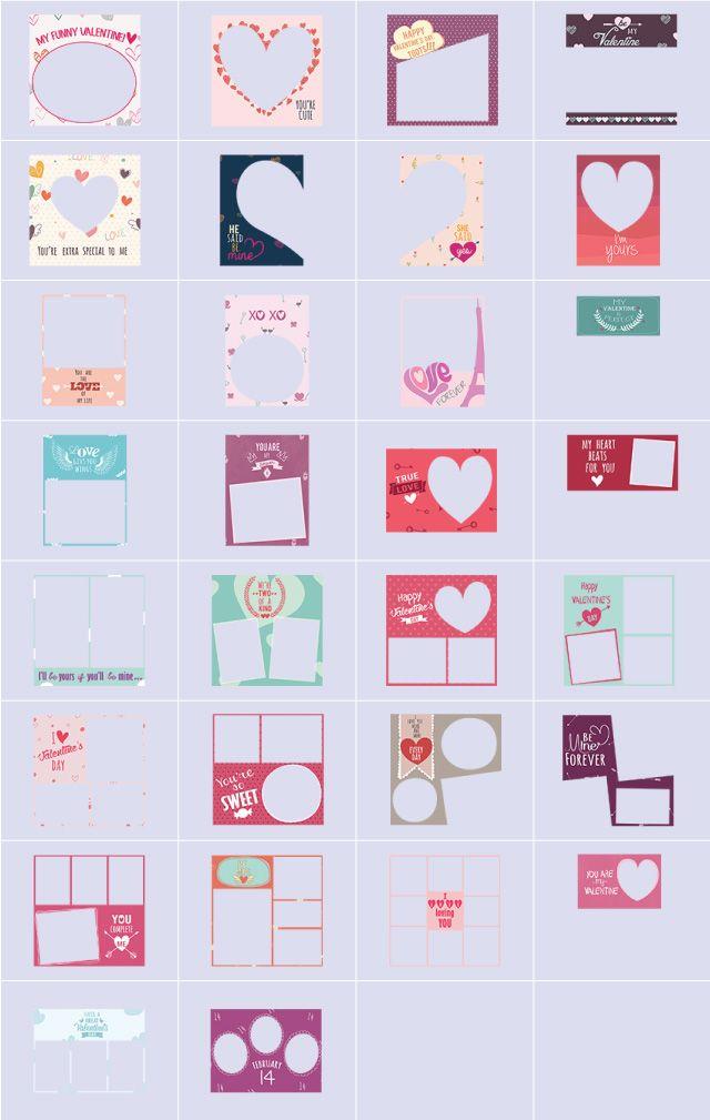 sweet valentine frames