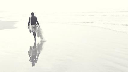beach blackandwhite emotions travel