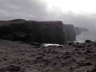 landscape ireland blackandwhite cliffs
