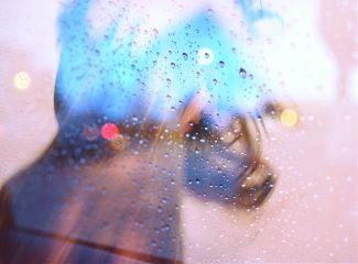 rain bokeh freetoedit people artisticselfie