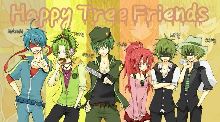 happytreefriends cute anime cool characters